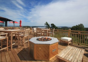 Looking Glass Restaurant - Bar Harbor - Fire Pit