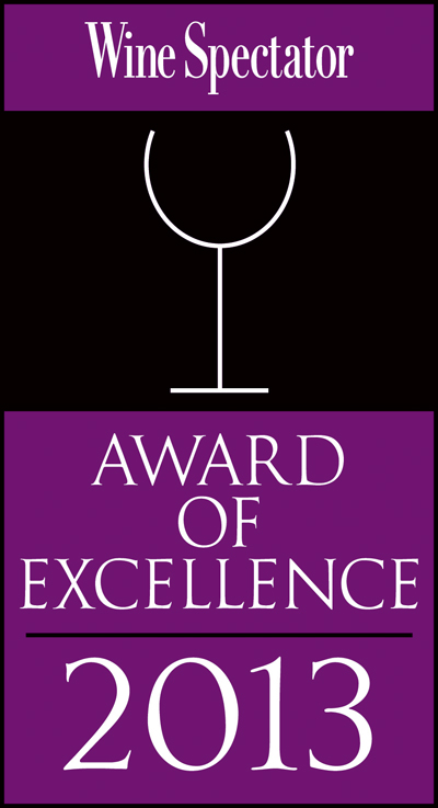 Award of Excellence Wine Spectator