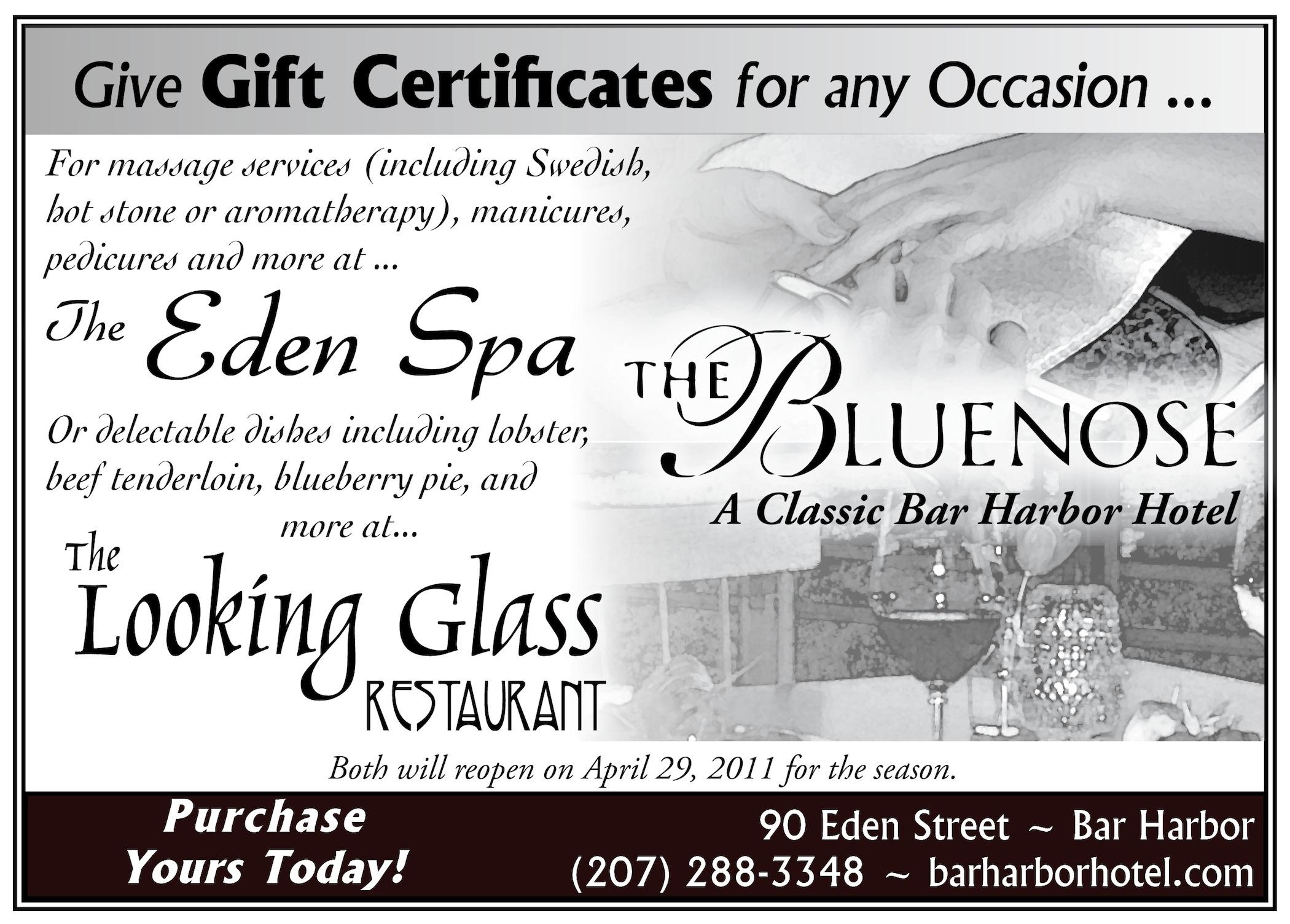 Wonderview Inn Gift Certificate