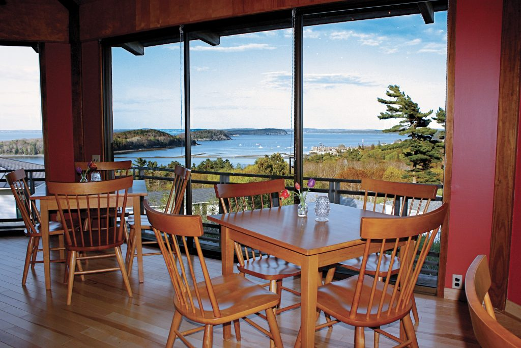 View Of Bar Harbor From The Looking Glass Restaurant