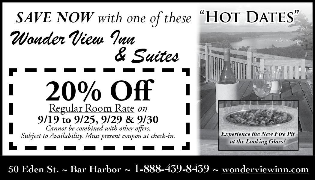 """Wonder View Inn - September """"Hot Dates"""""""