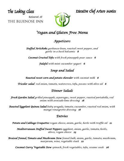 Looking Glass Restaurant Vegan Menu